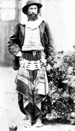 Fotografía de un gaucho en 1870.