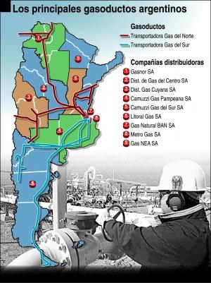 Resultado de imagen para sistema de gasoductos + argentina