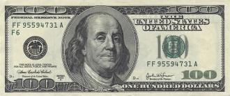 57a1524ba6d87 Anverso del billete de 100 dólares de 1996.